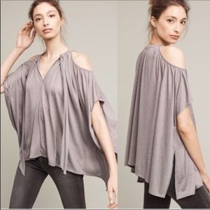 Anthropologie Deletta Tulay Cold Shoulder Top XS/S